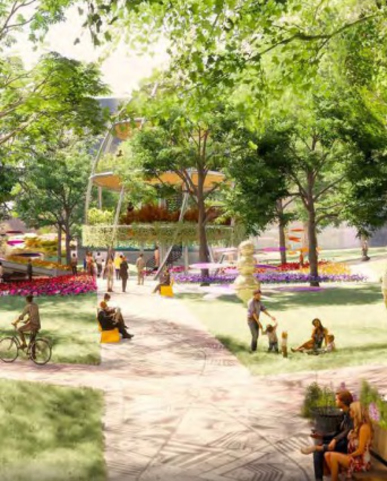 concord-metrotown-community-park-rendering at Concord Metrotown (4750 Kingsway, Metrotown, Burnaby South)