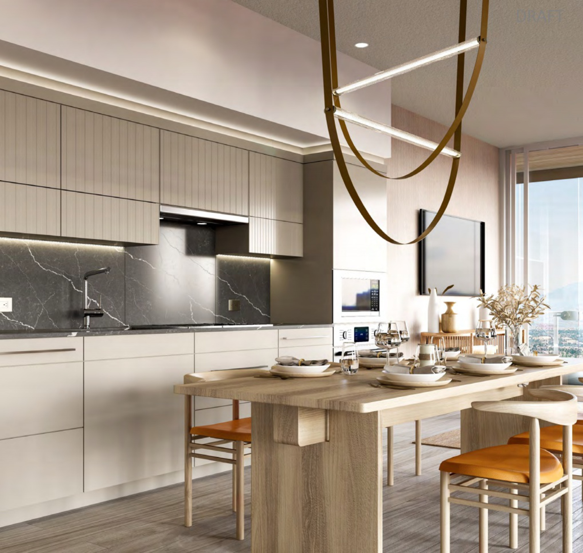 concord-metrotown-kitchen-rendering at Concord Metrotown (4750 Kingsway, Metrotown, Burnaby South)
