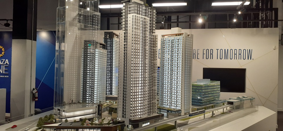 Plaza One by PCI Group - Architectural model  at Plaza One at King George Hub (13725 George Junction, Whalley, North Surrey)