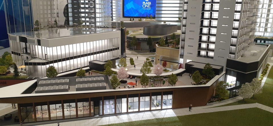 Plaza One at KGH Amenity Building at Plaza One at King George Hub (13725 George Junction, Whalley, North Surrey)