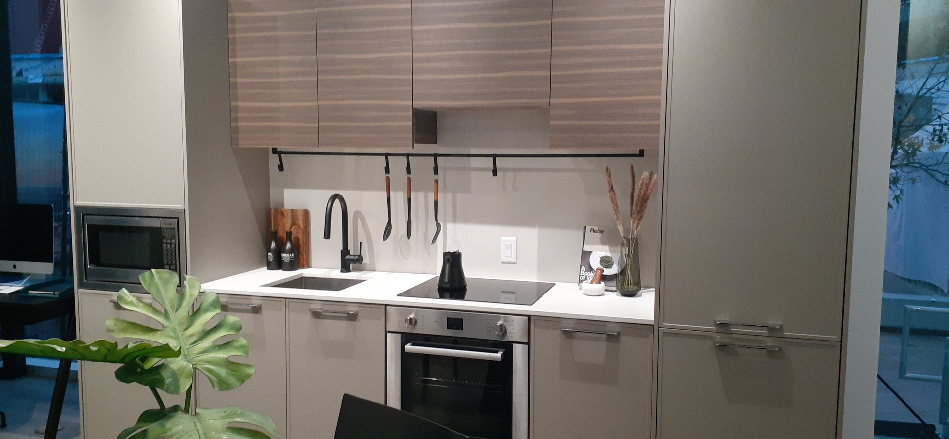 One Bedroom Kitchen at Plaza One at King George Hub (13725 George Junction, Whalley, North Surrey)
