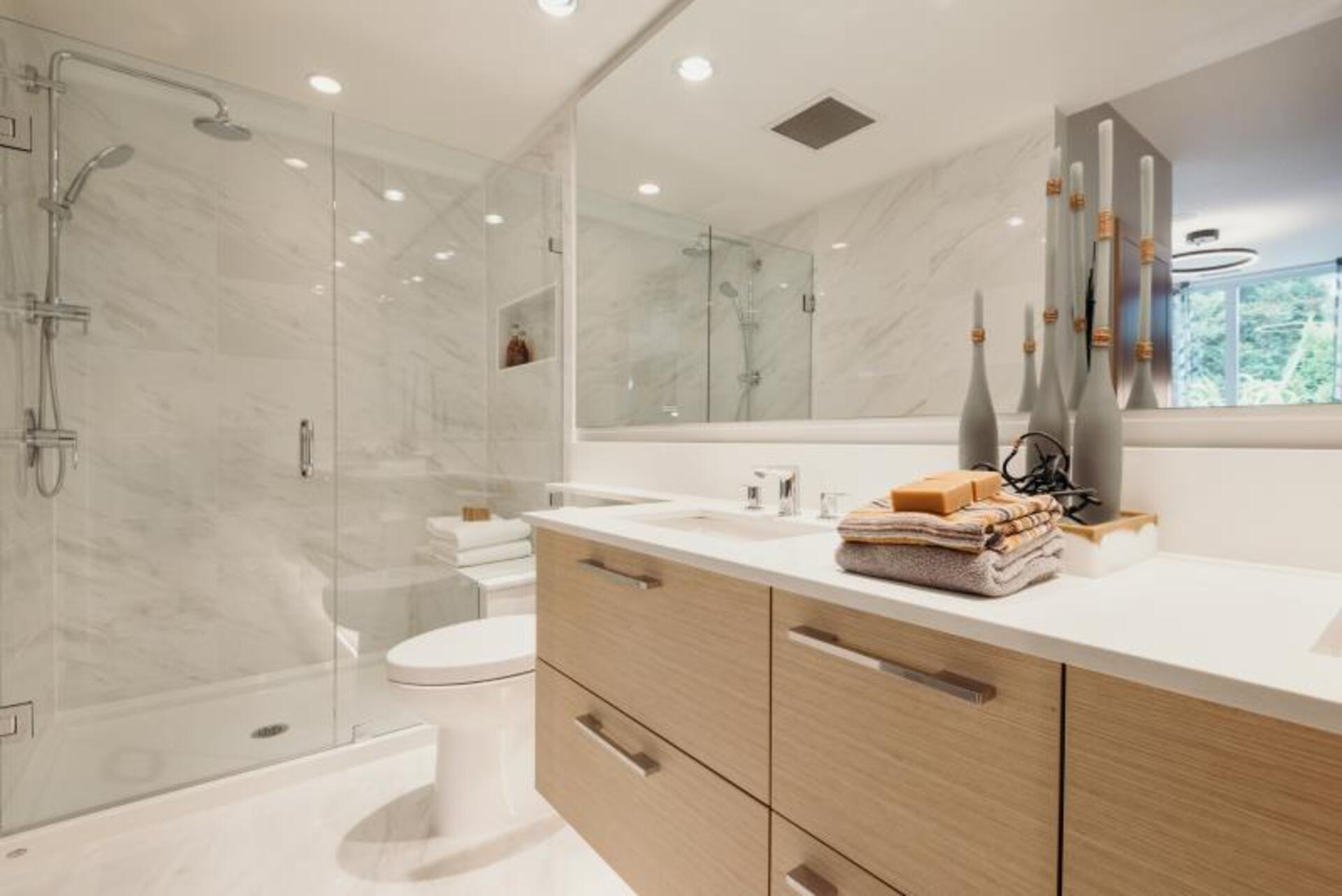 Vittorio by Polygon Bathroom  at Vittorio (6700 Dunblane Avenue, Metrotown, Burnaby South)