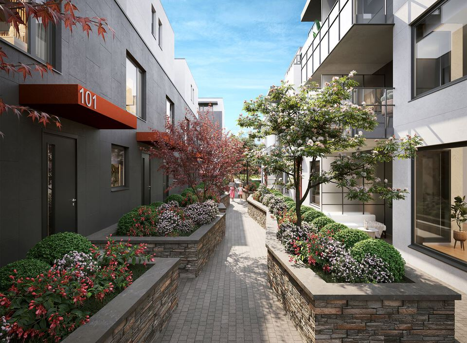 templeton-courtyard at Templeton (2276 E 1st Avenue, Grandview Woodland, Vancouver East)