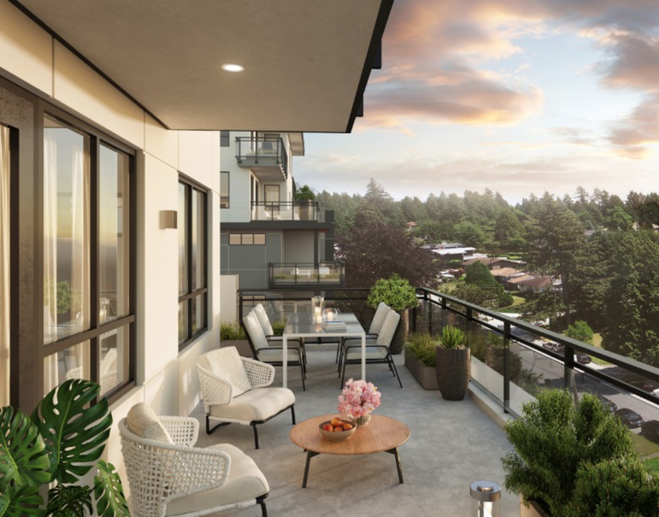 dansey-balcony-artists-rendering at Dansey (599 Dansey Avenue, Coquitlam West, Coquitlam)