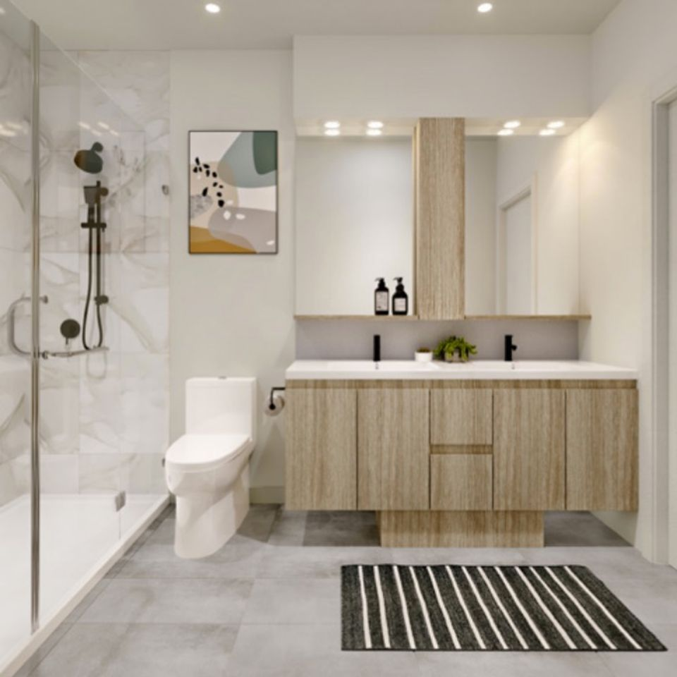 dansey-bathroom-artists-rendering at Dansey (599 Dansey Avenue, Coquitlam West, Coquitlam)
