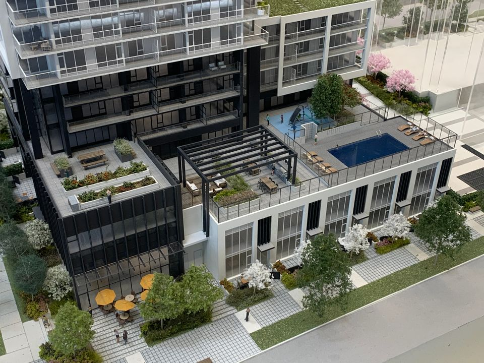 vue north rd front with pool amenity at Vue (638 Whiting Way, Coquitlam West, Coquitlam)