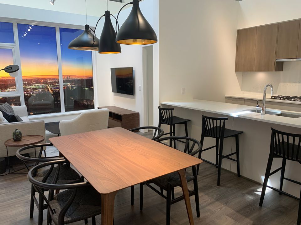 vue living dining in 2A plan at Vue (638 Whiting Way, Coquitlam West, Coquitlam)