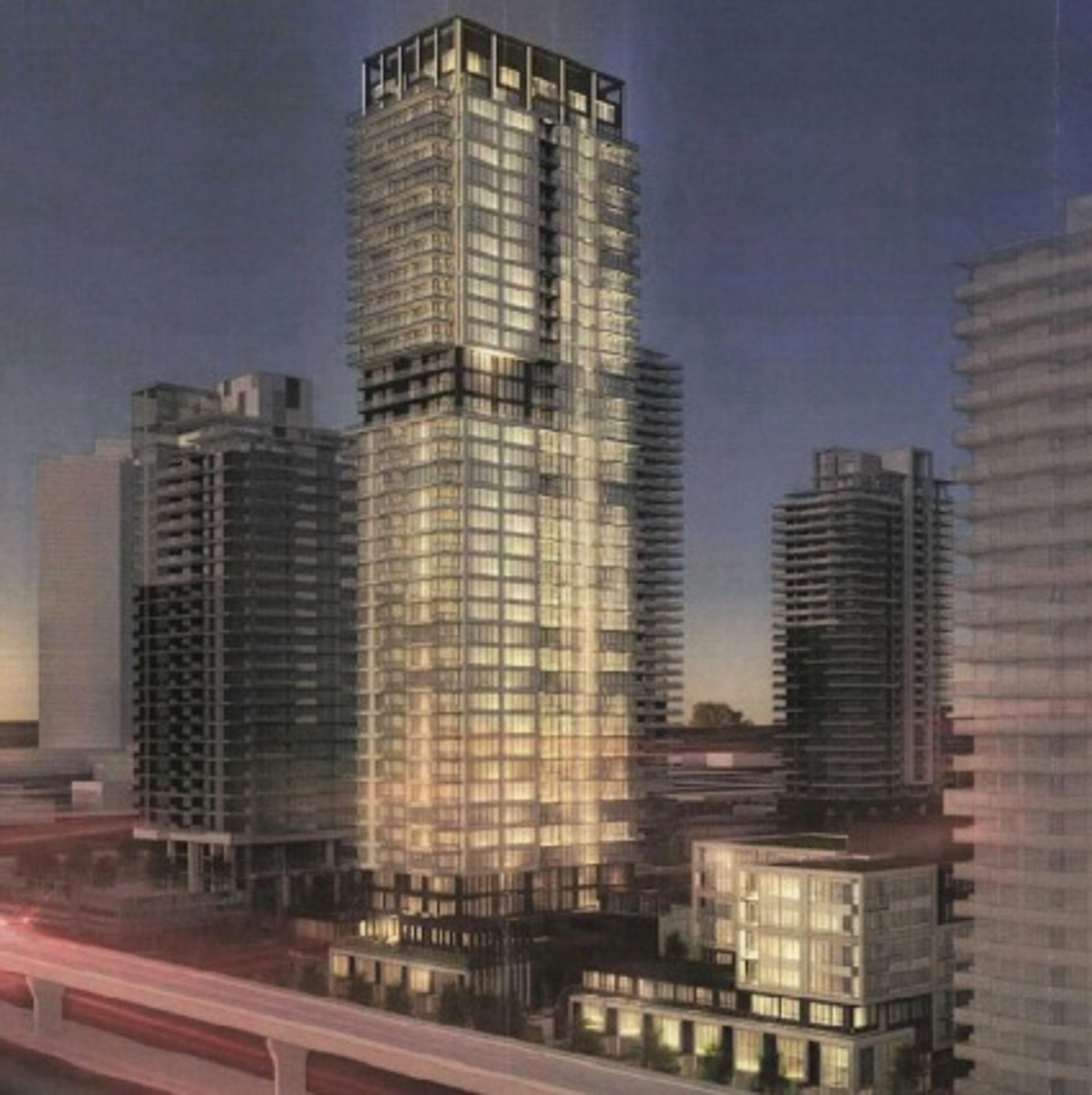 vue-artists-rendering-exterior-tower at Vue (500 Foster Avenue, Coquitlam West, Coquitlam)