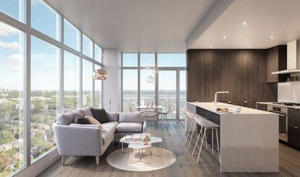 lumina-living-room at Waterfall  -  Lumina (2425 Beta Avenue, Brentwood Park, Burnaby North)