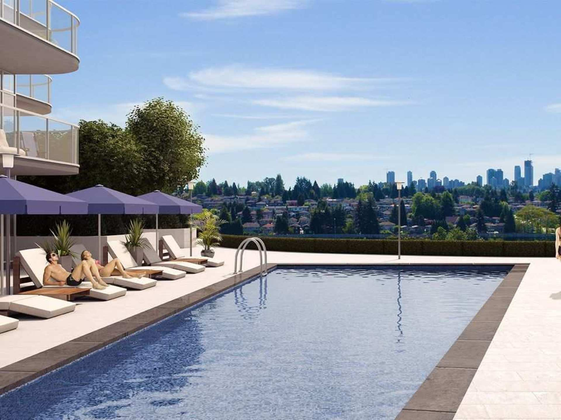 etoile-pool at Etoile Brentwood (5345 Goring Street, Brentwood Park, Burnaby North)