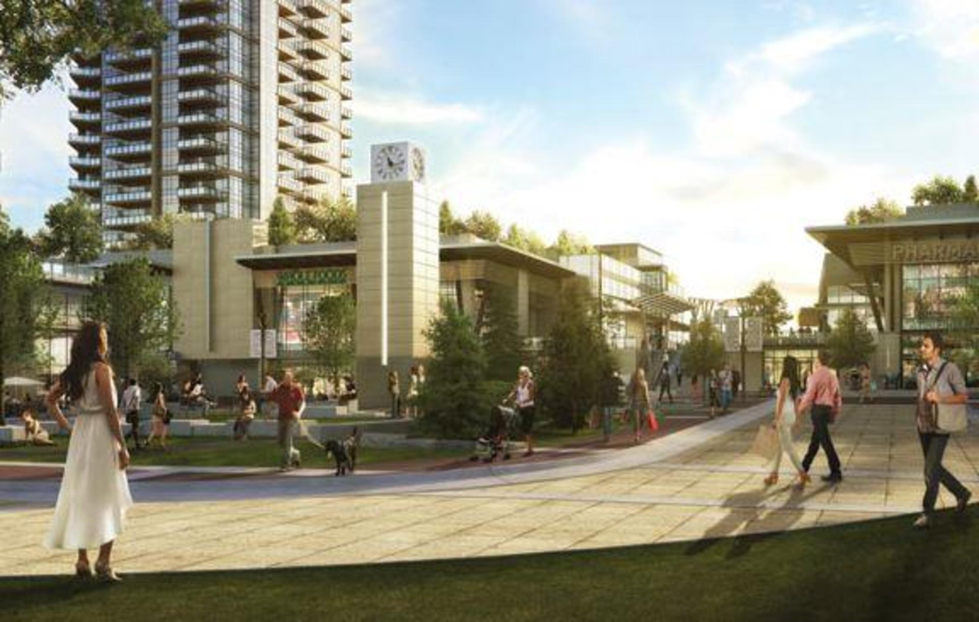 courtyard-and-common-sd at Cirrus - Solo District 3 (2085 Skyline Court, Brentwood Park, Burnaby North)