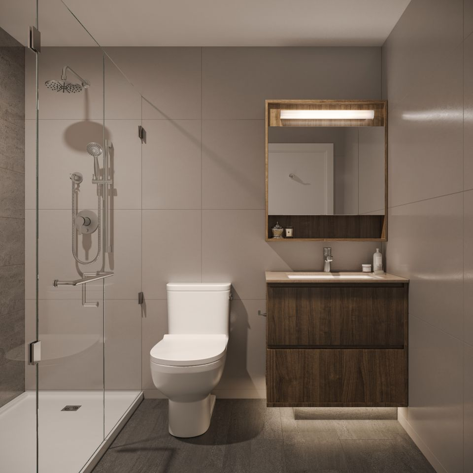 luxe-bathroom-rendering at Luxe Lansdowne ( Lansdowne Rd @ No.3 Road, Richmond)