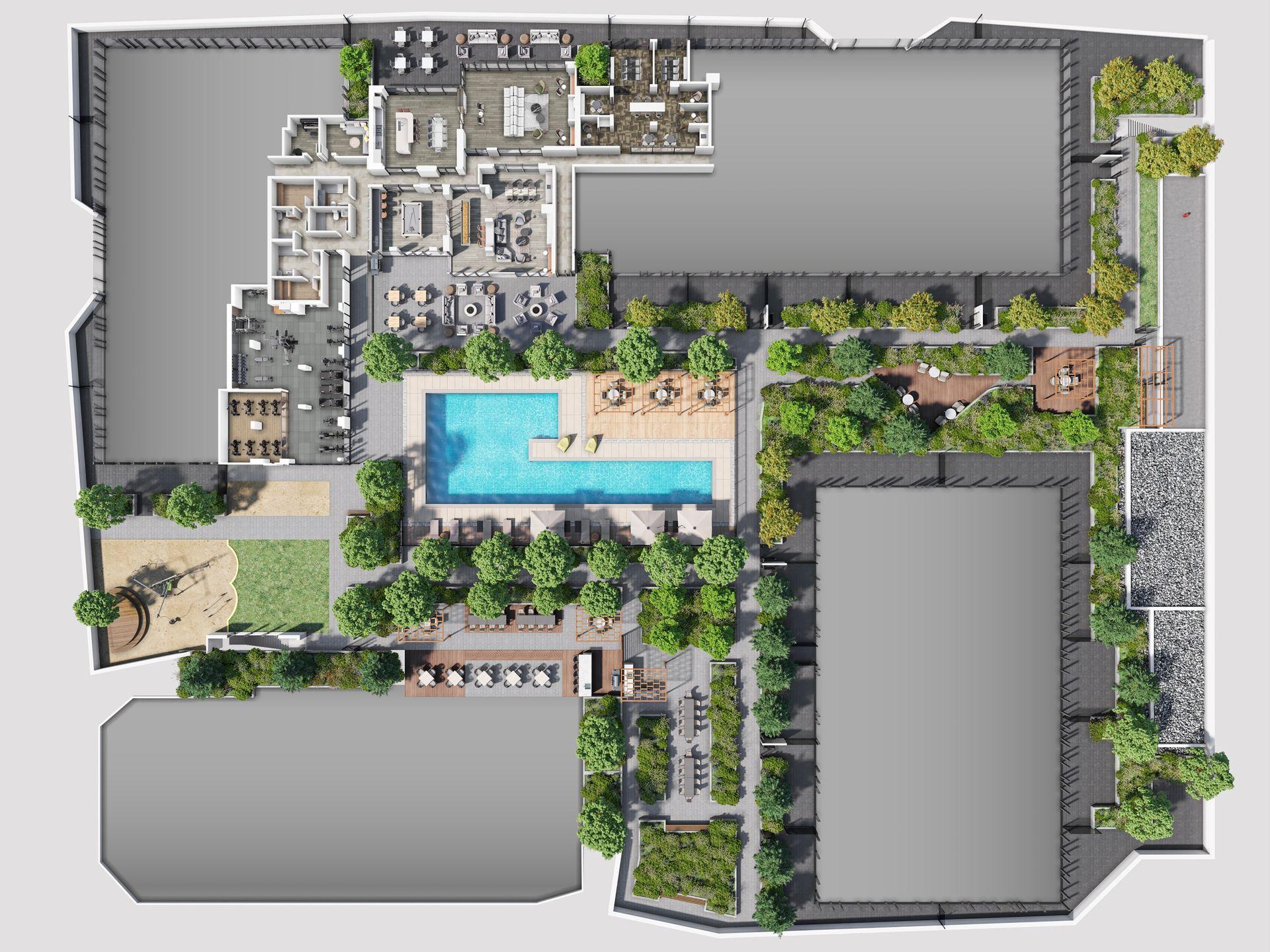 luxe-amenity-site-plan at Luxe Lansdowne ( Lansdowne Rd @ No.3 Road, Richmond)