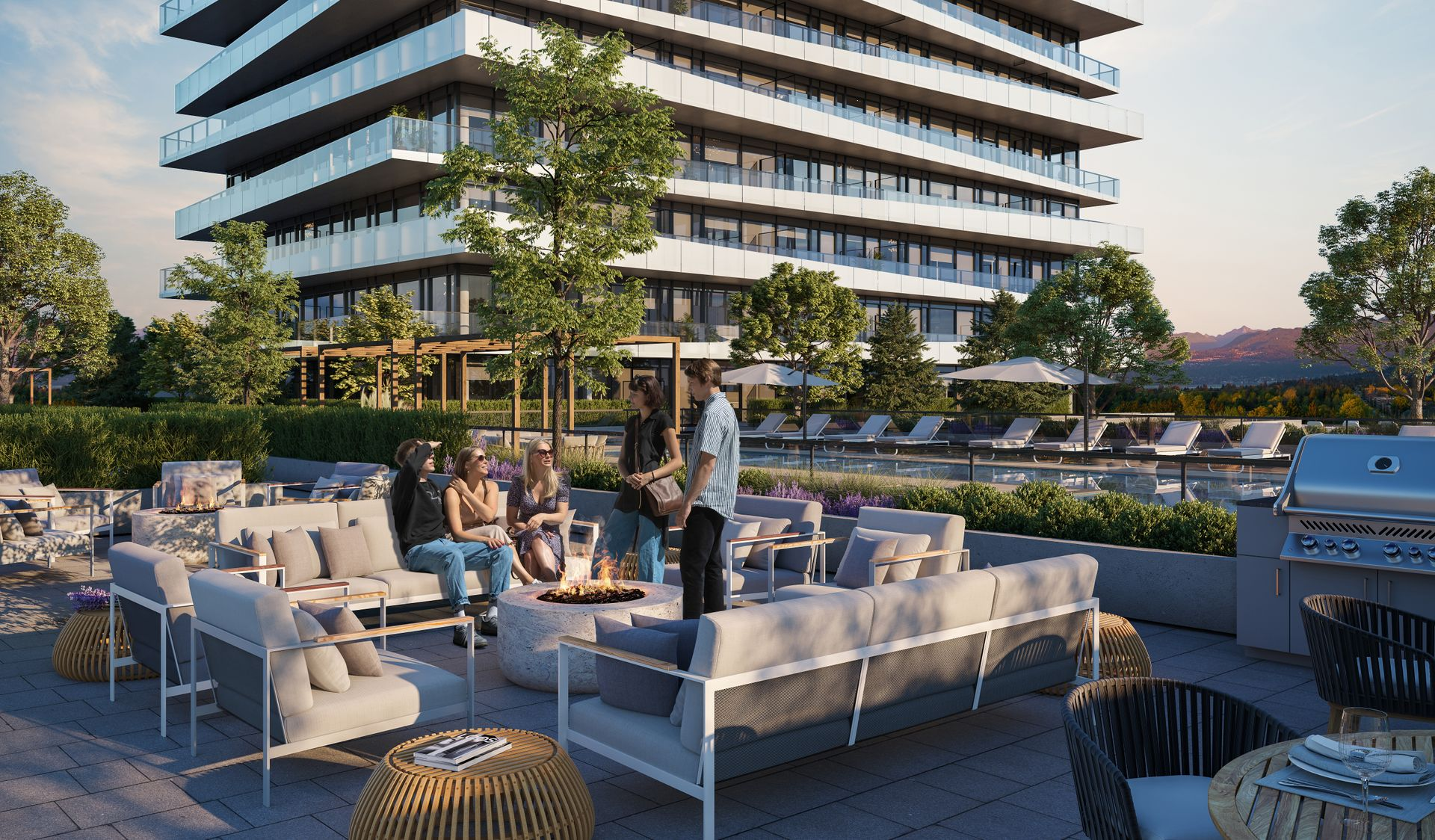 luxe-communal-amenity-terrace at Luxe Lansdowne ( Lansdowne Rd @ No.3 Road, Richmond)