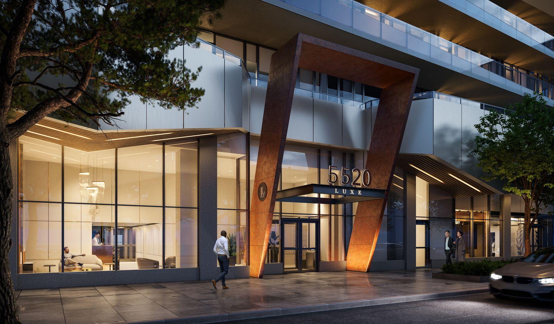 luxe-entrance at Luxe Lansdowne ( Lansdowne Rd @ No.3 Road, Richmond)