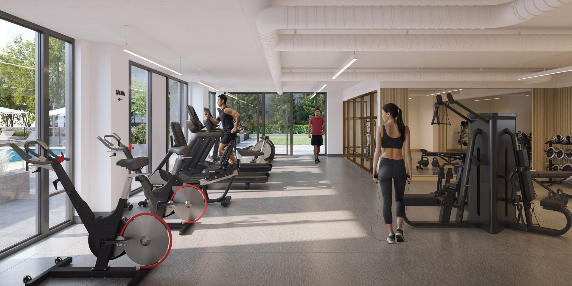 luxe-fitness-facility at Luxe Lansdowne ( Lansdowne Rd @ No.3 Road, Richmond)