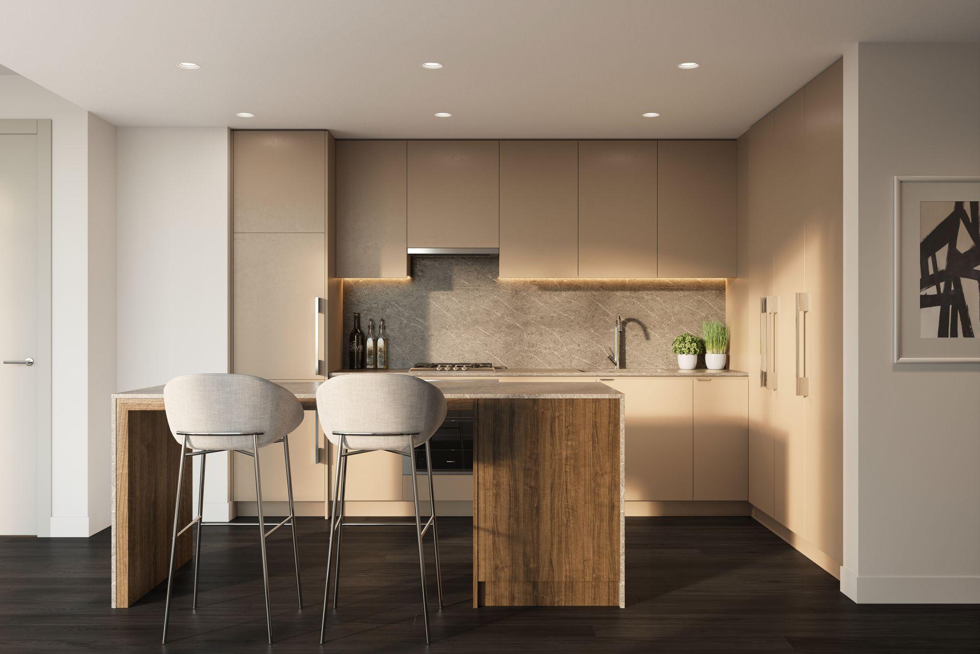 luxe-kitchen-rendering at Luxe Lansdowne ( Lansdowne Rd @ No.3 Road, Richmond)