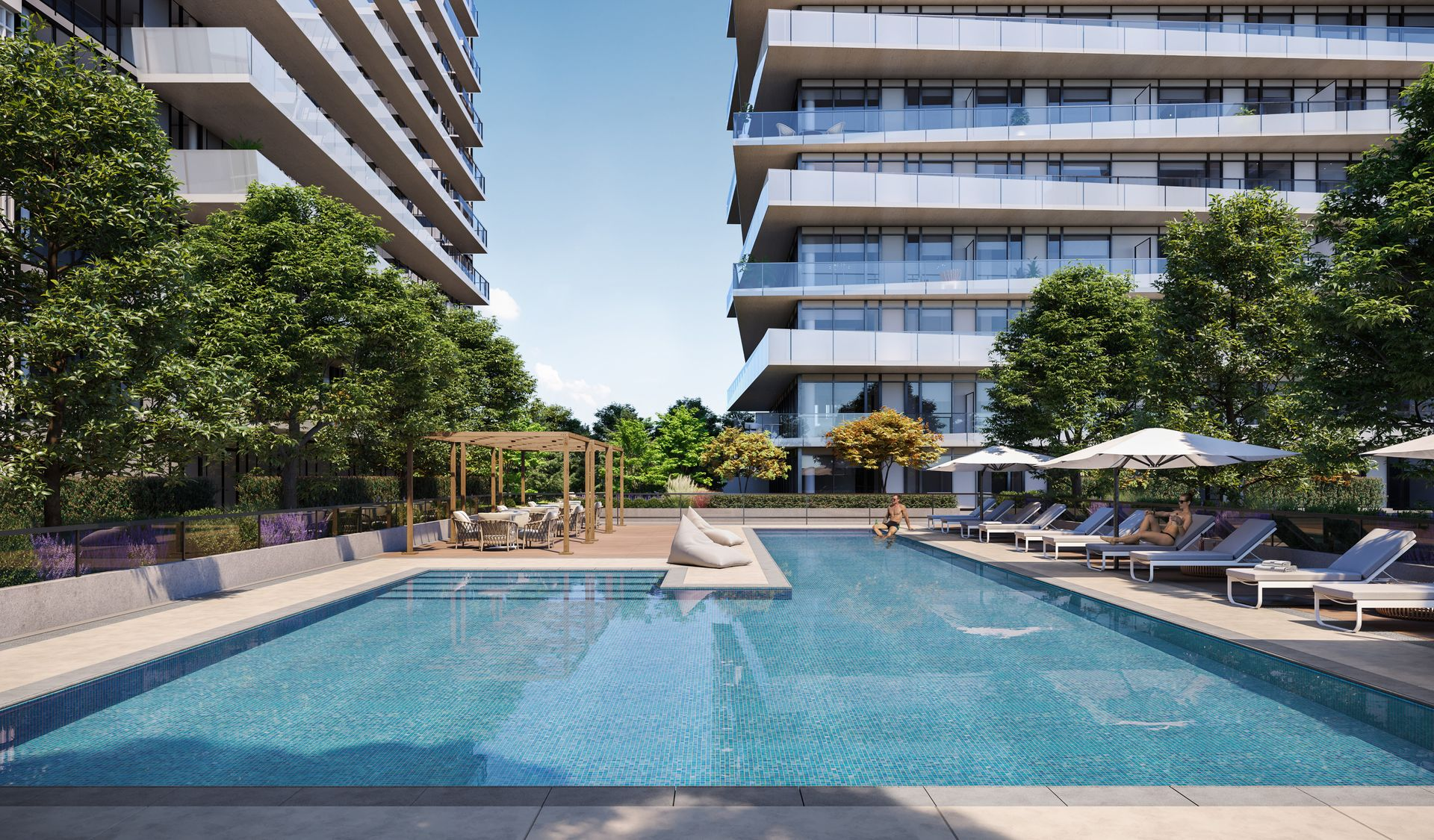 luxe-outdoor-pool at Luxe Lansdowne ( Lansdowne Rd @ No.3 Road, Richmond)