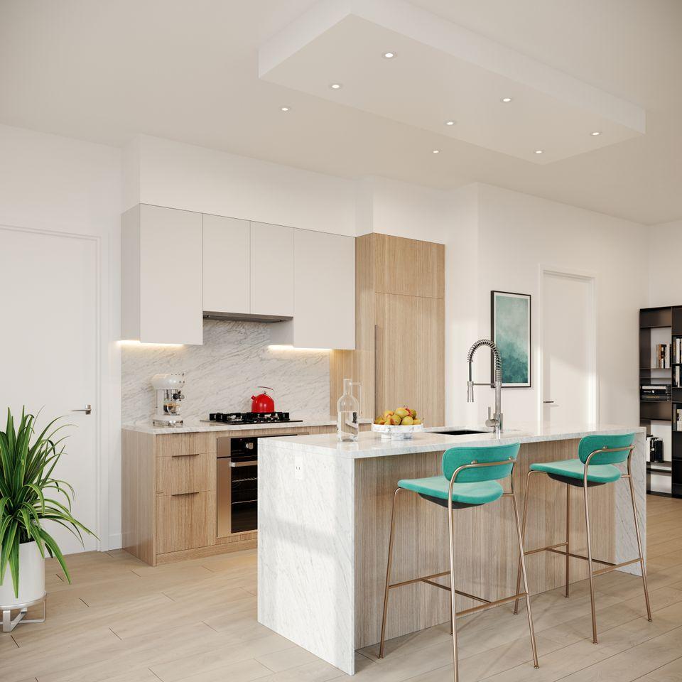 melrose-light-suite-kitchen at Melrose Tower (10333 133 St, Surrey, Bc, Whalley, North Surrey)