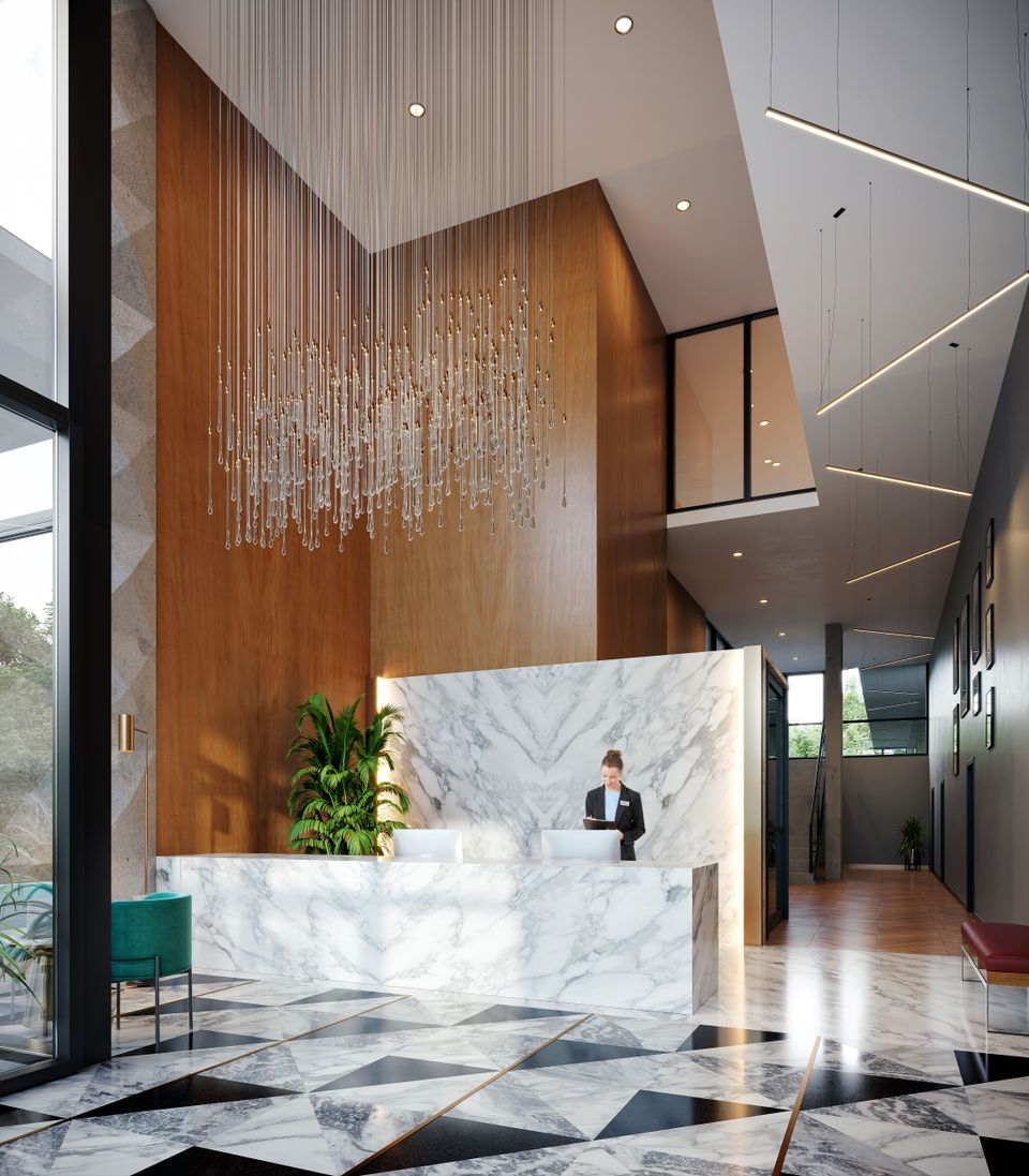 melrose-lobby at Melrose Tower (10333 133 St, Surrey, Bc, Whalley, North Surrey)