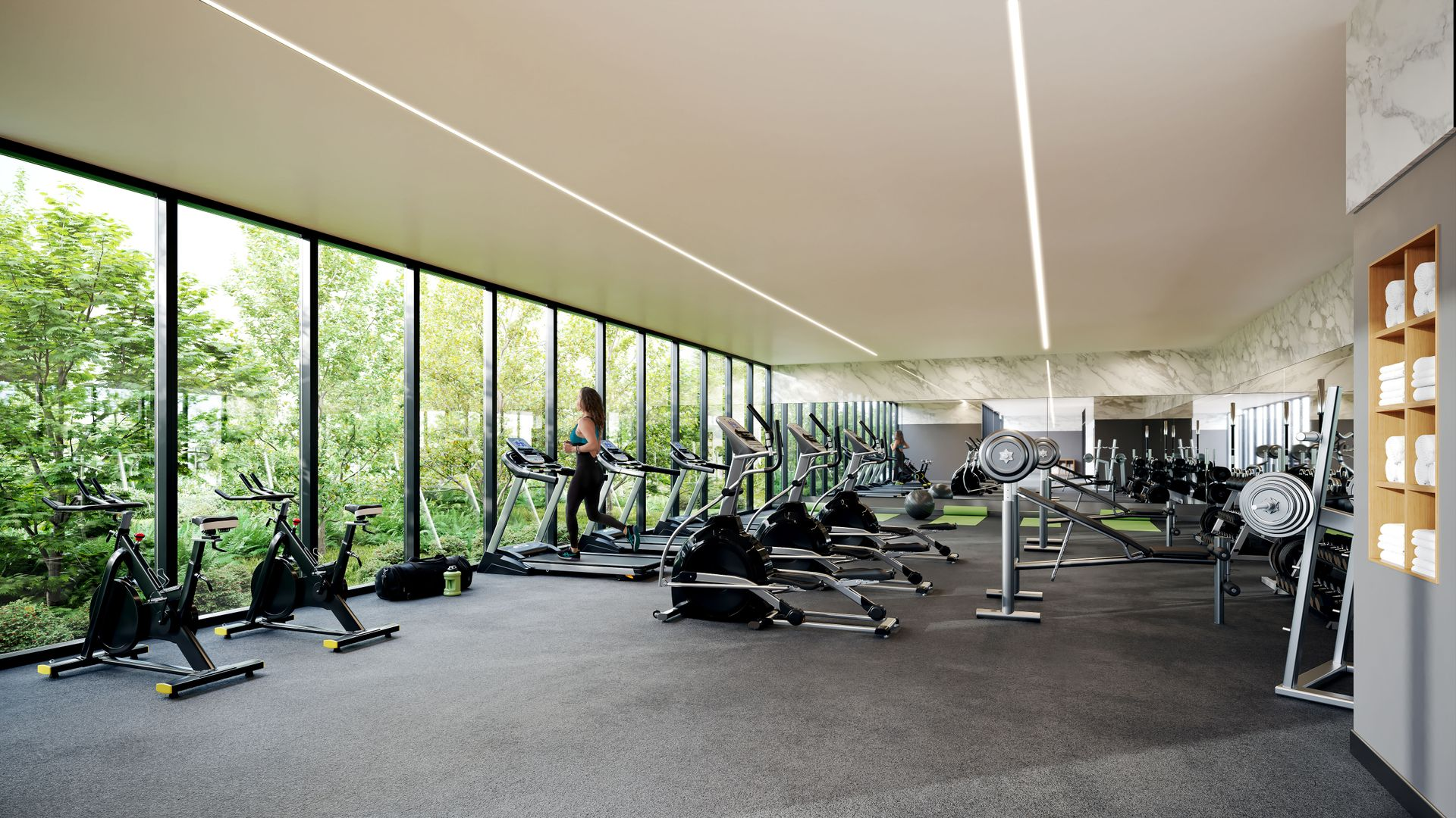 melrose-gym at Melrose Tower (10333 133 St, Surrey, Bc, Whalley, North Surrey)