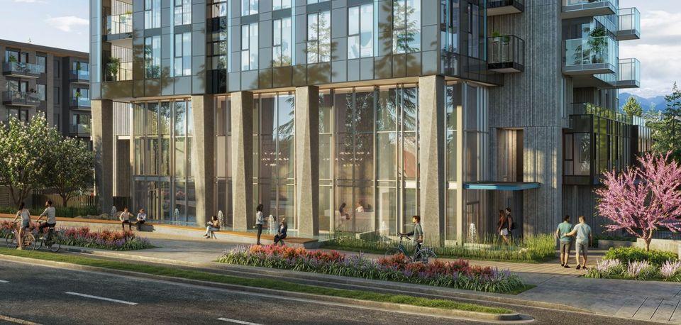 Artesia-Metrotown-Lobby exterior- artist's rendering at Artesia Metrotown (4275 Grange Street, Metrotown, Burnaby South)