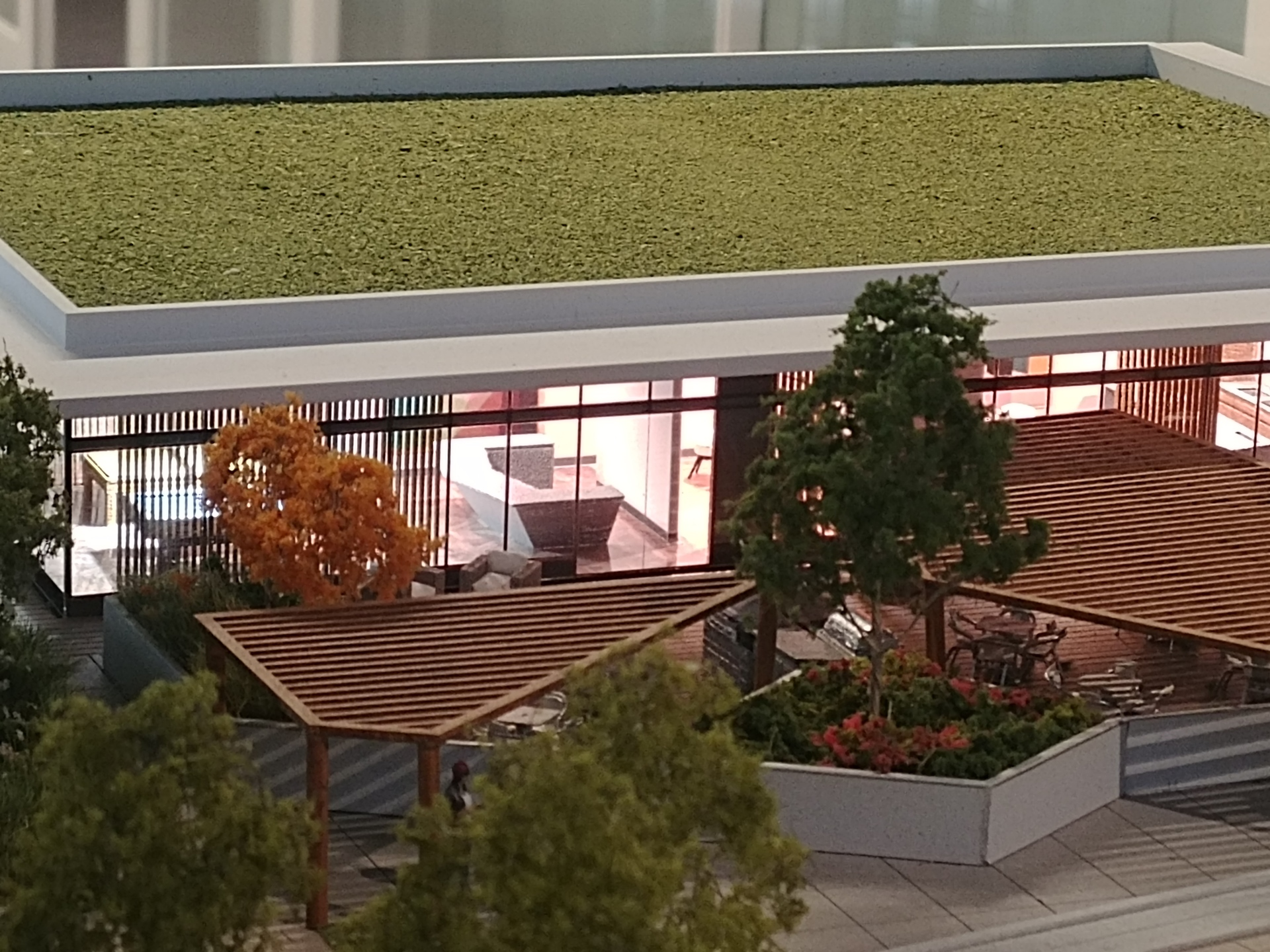 soco-podium-amenity-area-showing-terrace at SOCO (319 North Road, Coquitlam West, Coquitlam)