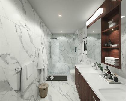 basalt-ensuite-bathroom at Basalt (5030 Cambie Street, Cambie, Vancouver West)