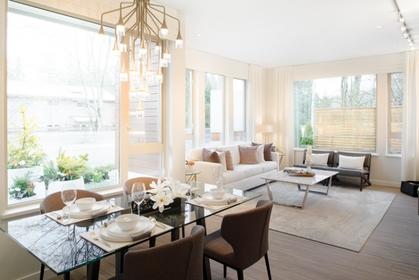 Juniper-Living-Room at Juniper at Timber Court (2632 Library Lane, Lynn Valley, North Vancouver)