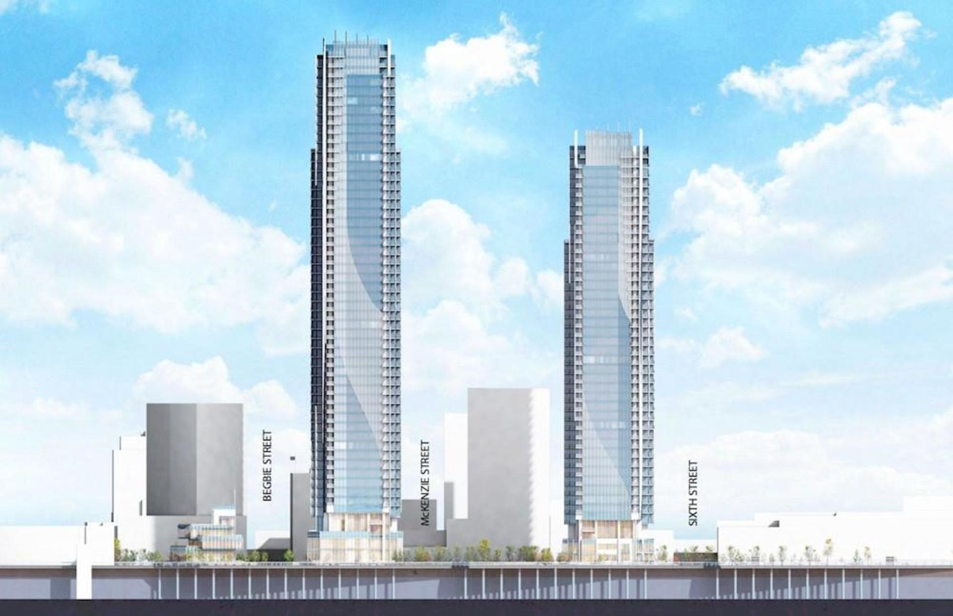 bosa-pier-west-highest-towers-in-new-west at 660 Quayside Drive, Quay, New Westminster