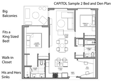 capitol-sample-2-bedroom-and-den-plan at Capitol (1012 Auckland Street, Downtown NW, New Westminster)