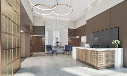 navio-lobby at Navio at The Creek (95 East 1st Avenue, Mount Pleasant VE, Vancouver East)