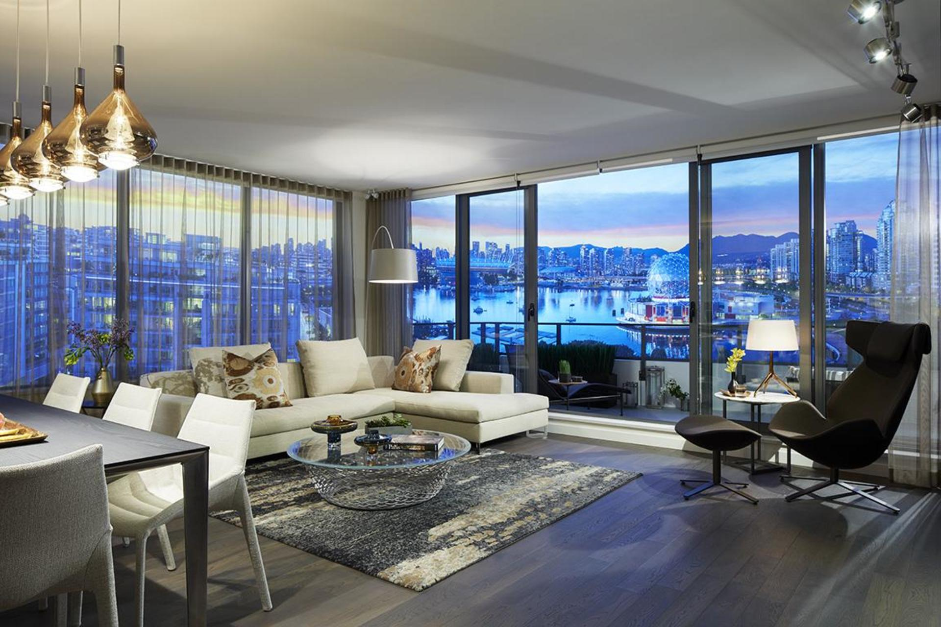navio-living-room at Navio at The Creek (95 East 1st Avenue, Mount Pleasant VE, Vancouver East)