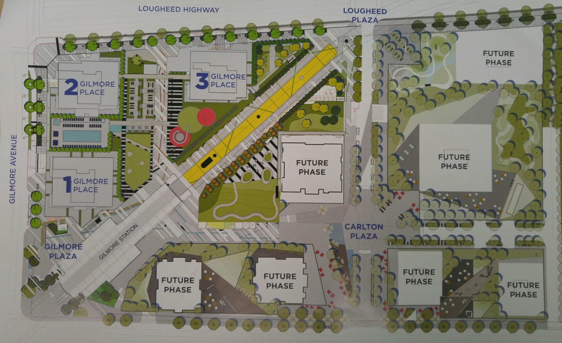gilmore-place-site-plan at Gilmore Place Phase 1 ( Lougheed Highway, Brentwood Park, Burnaby North)
