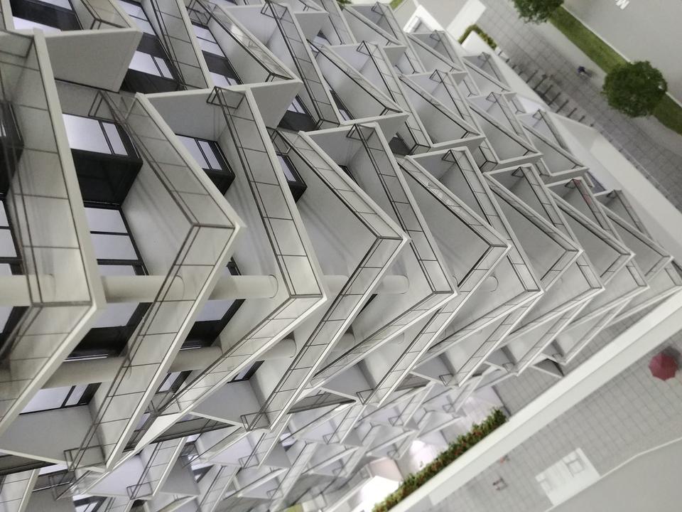 akimbo-building-model-se-corner at Akimbo (4285 Dawson Street, Brentwood Park, Burnaby North)
