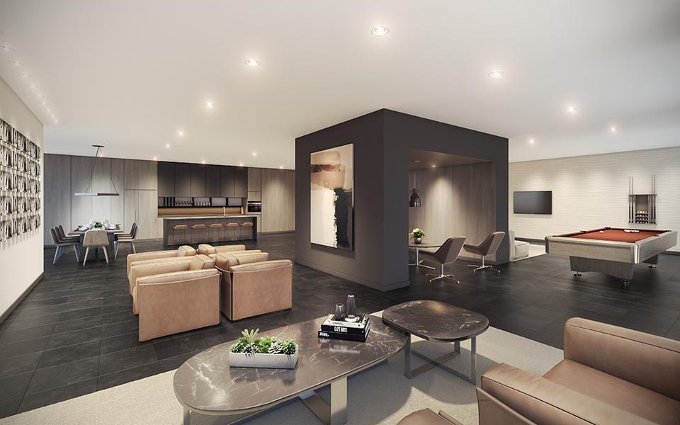 akimbo-party-room at Akimbo (4285 Dawson Street, Brentwood Park, Burnaby North)