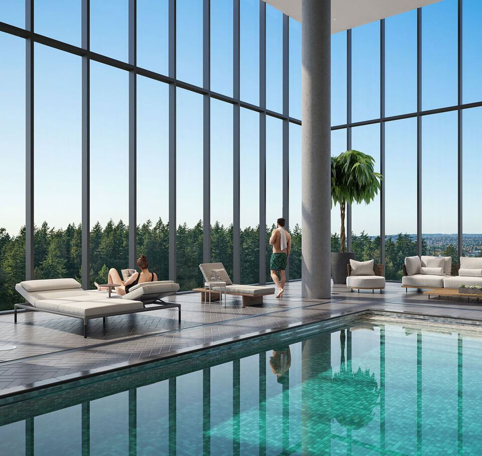central-park-house-pool-rendering at Central Park House (5977 Wilson Avenue, Metrotown, Burnaby South)
