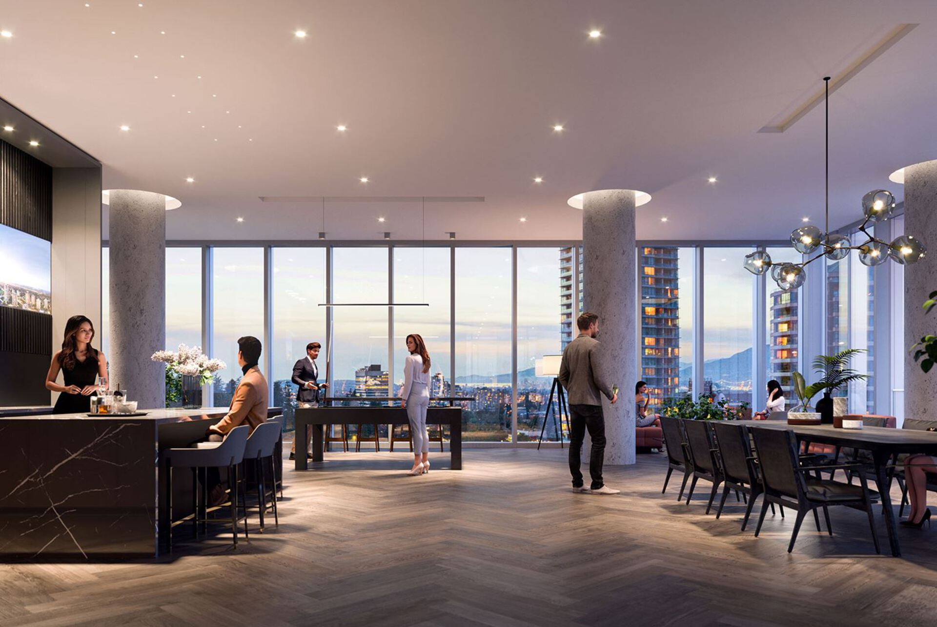cph-amenity-lounge-rendering at Central Park House (5977 Wilson Avenue, Metrotown, Burnaby South)