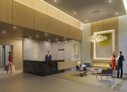 station-square-tower-4-lobby at Station Square Tower 4 (6080 Mckay Avenue, Metrotown, Burnaby South)