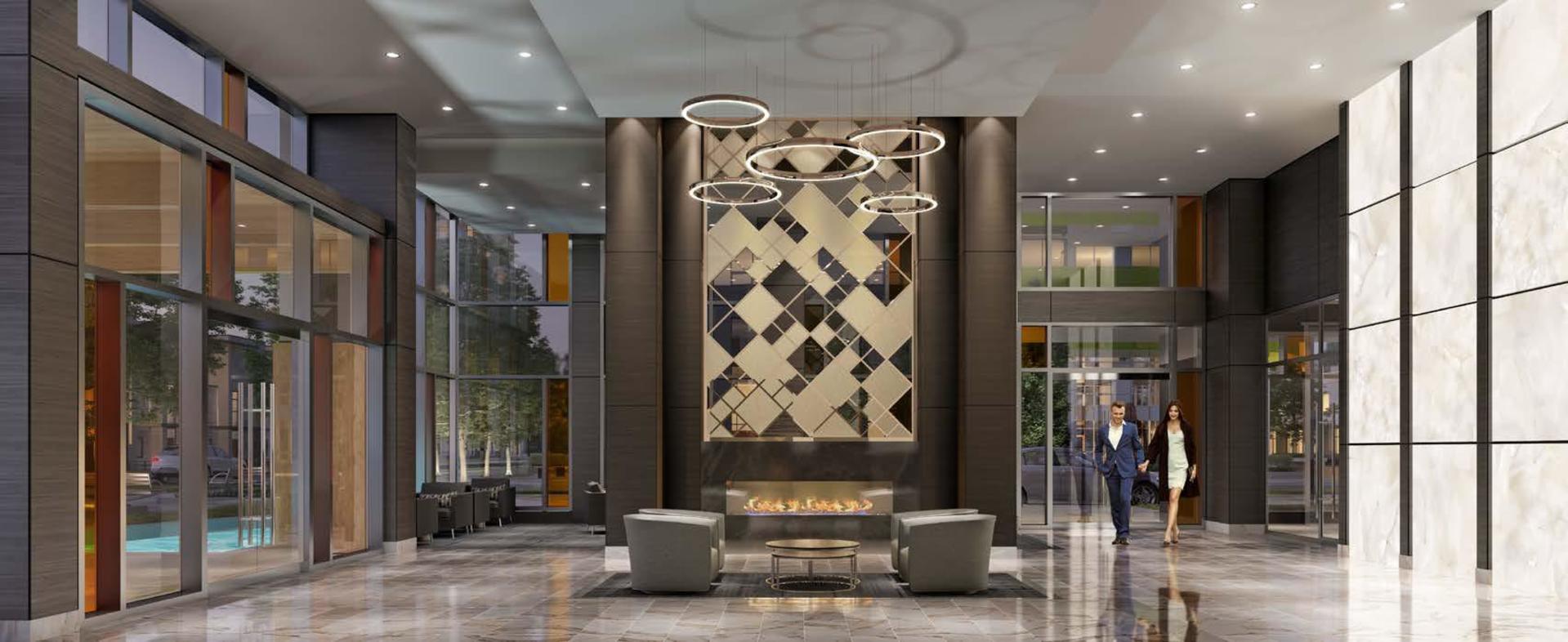 vittorio-lobby at 6060 Marlborough Avenue, Metrotown, Burnaby South