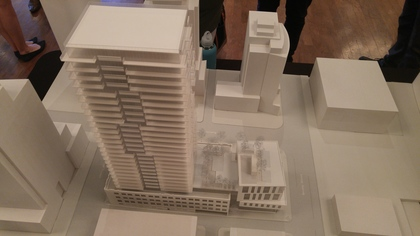 118-robson-south-elevation-on-building-model at BLOCK (118-150 Robson Street, Yaletown, Vancouver West)