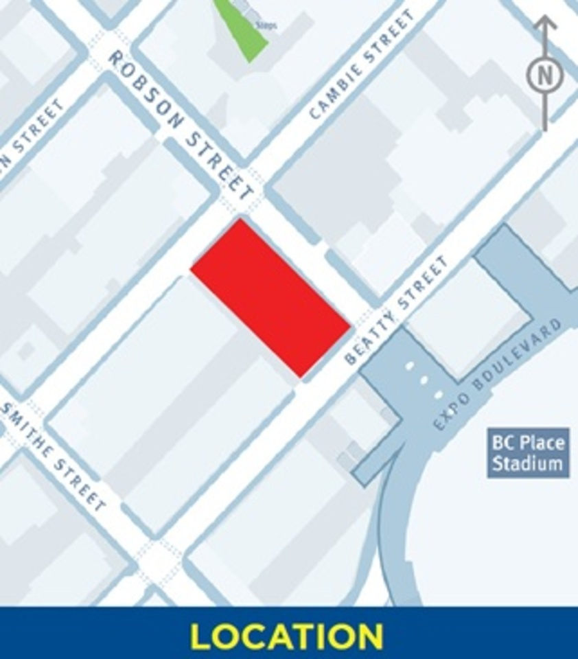 150-robson-location at BLOCK (118-150 Robson Street, Yaletown, Vancouver West)