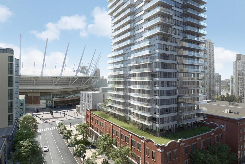 150_Robson_Street_exterior_rendering_ to BC Place at BLOCK (118-150 Robson Street, Yaletown, Vancouver West)