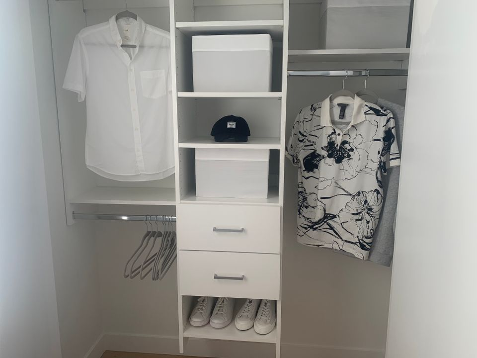 Built-in closet in one bed display at BLOCK (828 Cambie Street, Yaletown, Vancouver West)