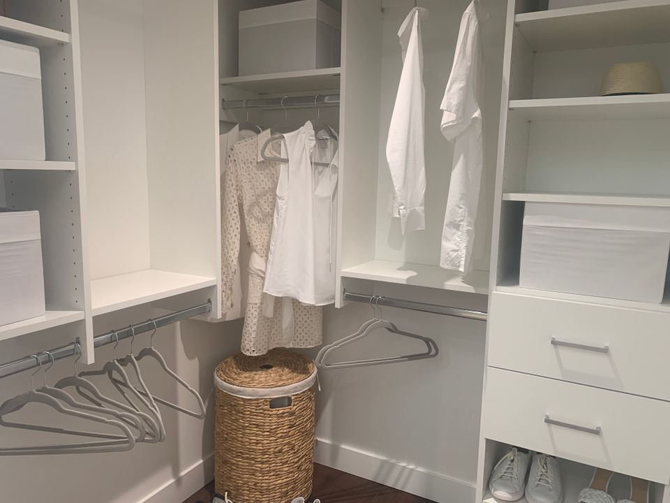 Built-in closets in two bed display suite at BLOCK (828 Cambie Street, Yaletown, Vancouver West)