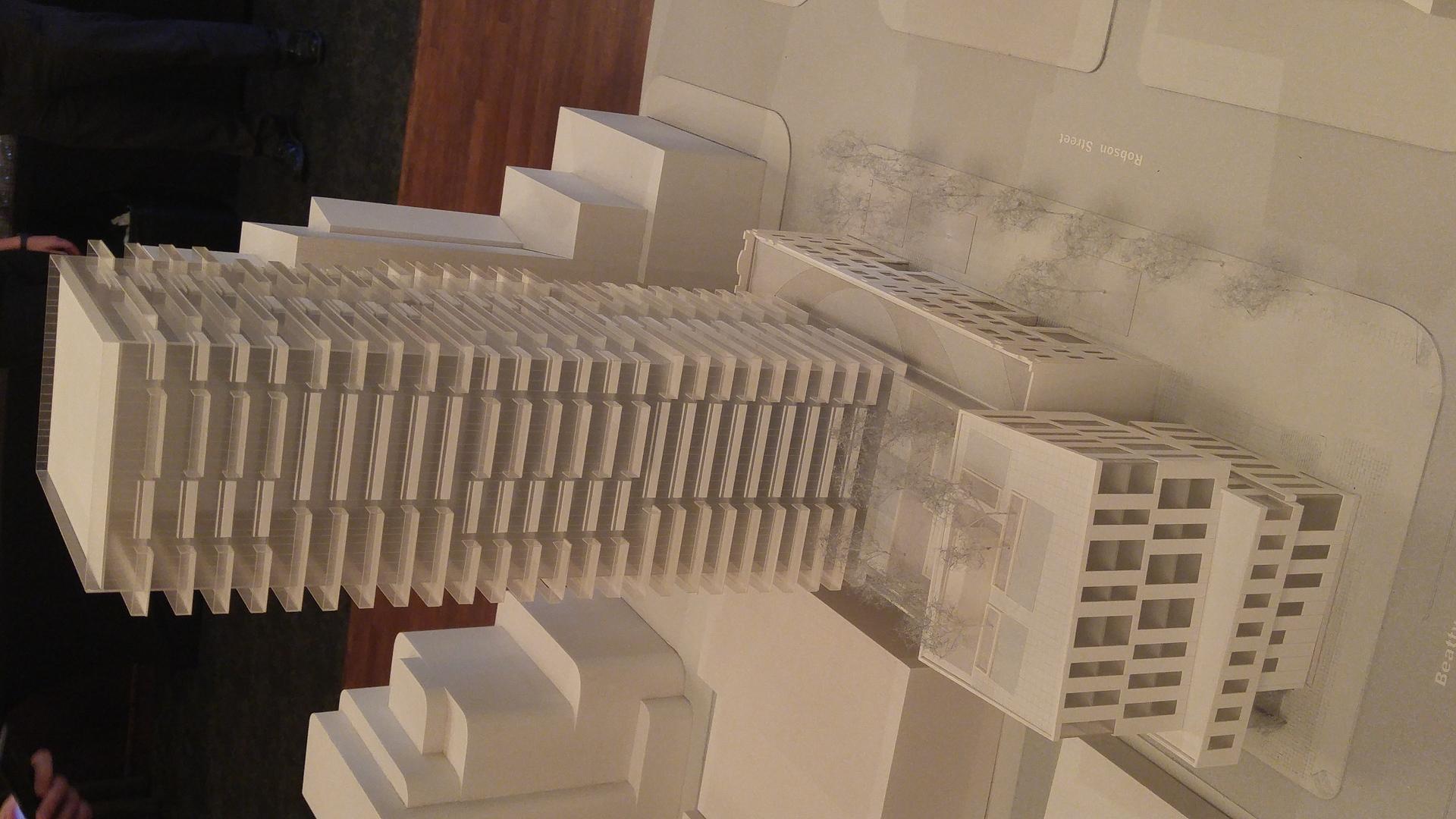 118-robson-east-elevation-of-building-model at BLOCK (118-150 Robson Street, Yaletown, Vancouver West)