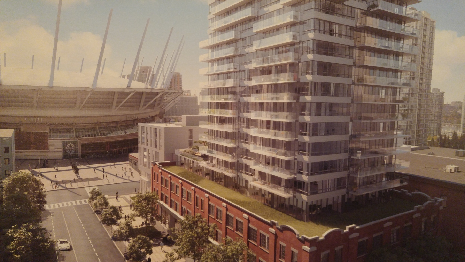 118-robson-looking-east-to-bc-place at BLOCK (118-150 Robson Street, Yaletown, Vancouver West)