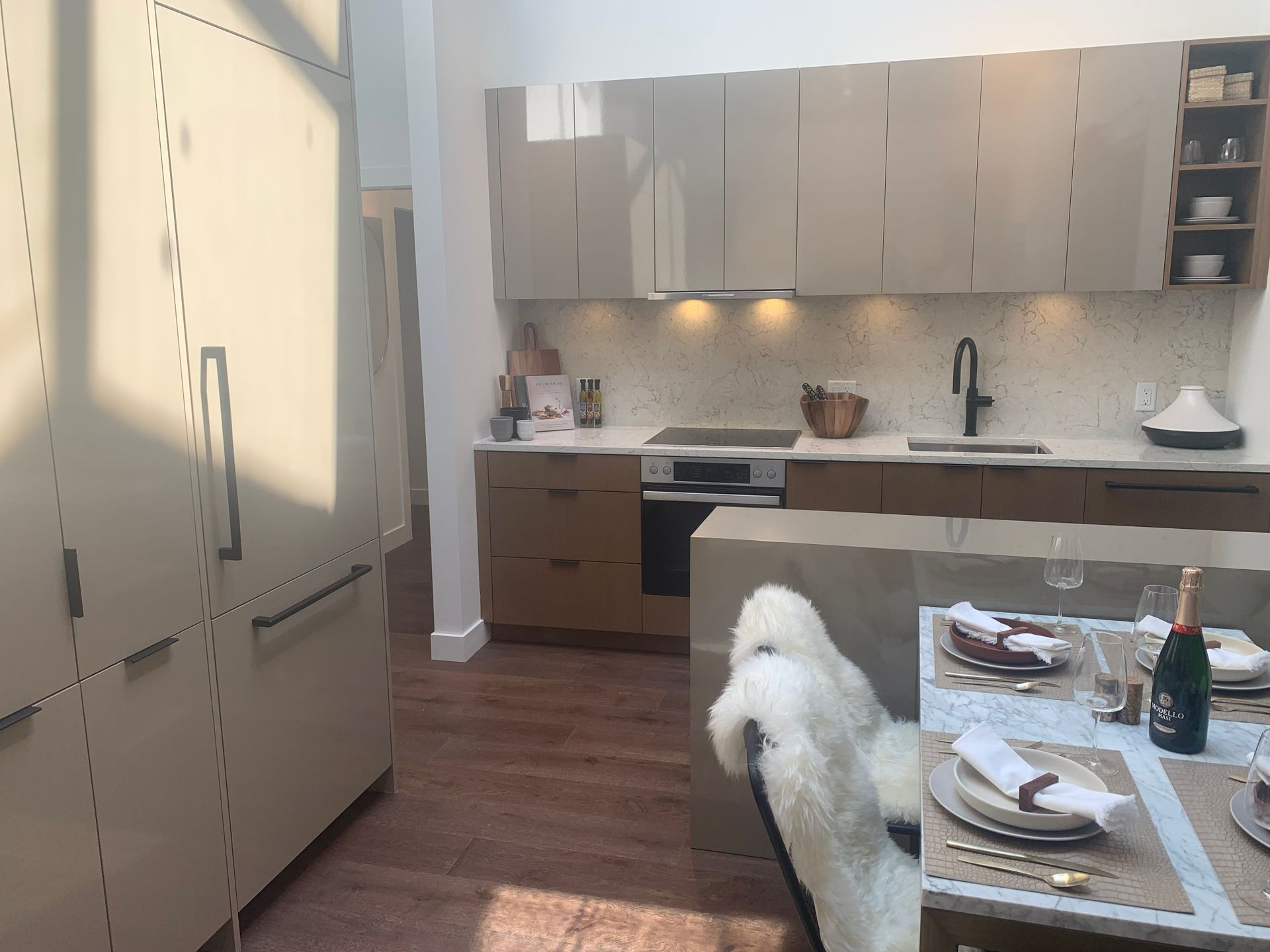 Kitchen in Cambie scheme at BLOCK (828 Cambie Street, Yaletown, Vancouver West)