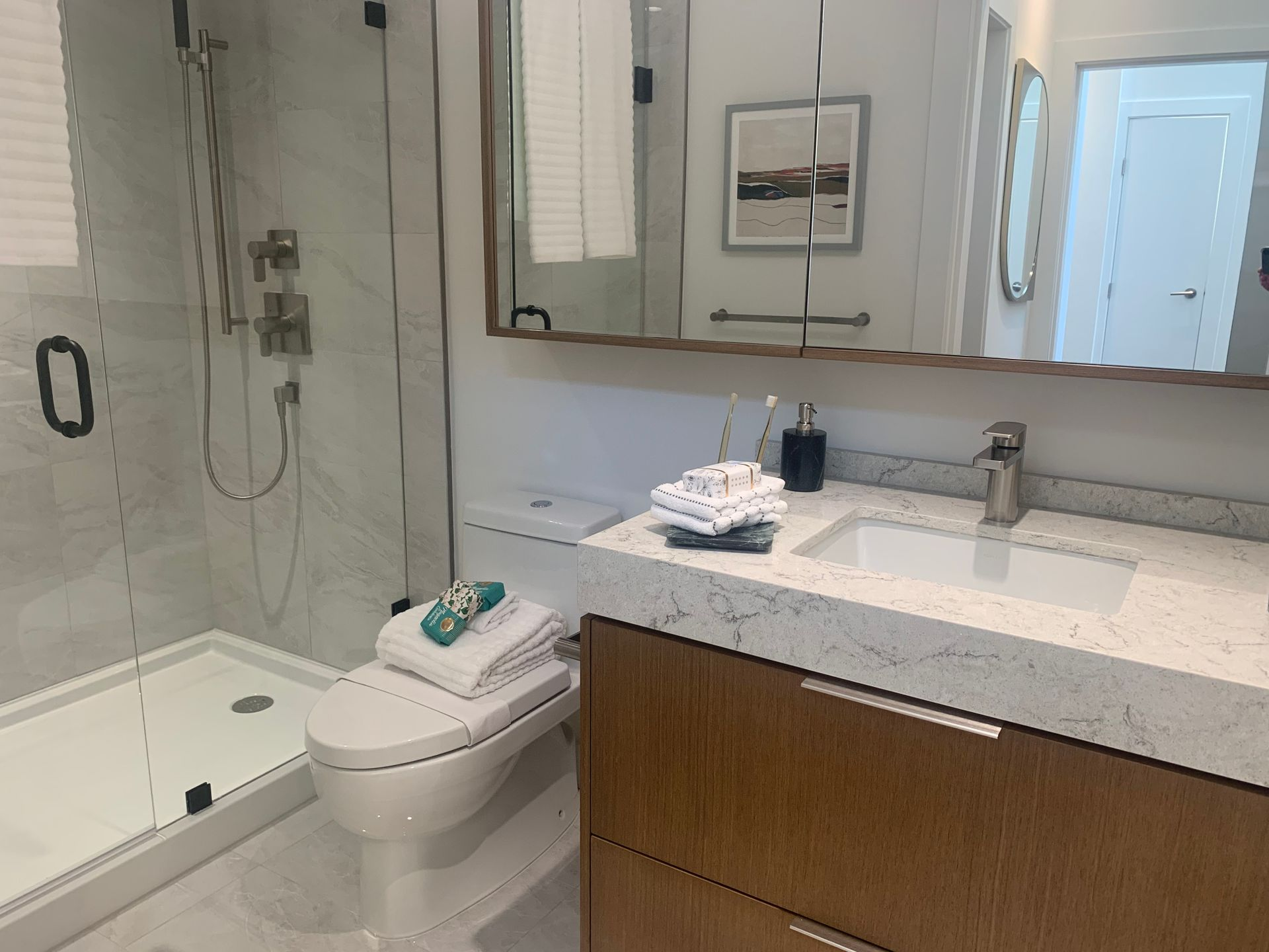 Ensuite bathroom in Cambie colour at BLOCK (828 Cambie Street, Yaletown, Vancouver West)