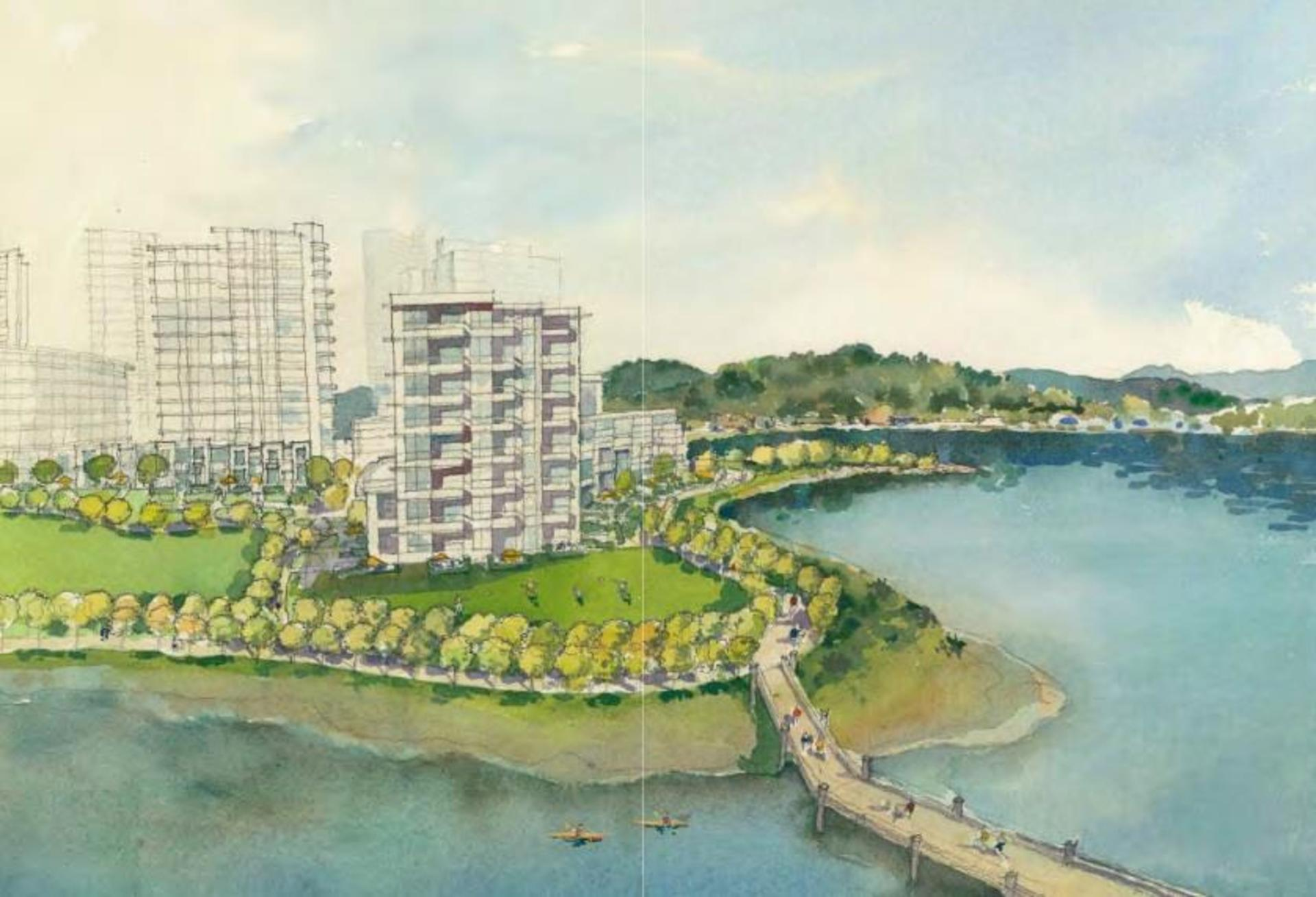 flavelle-mill-waterfront-rendering at Flavelle Mill (2400 Murray Street, Port Moody Centre, Port Moody)